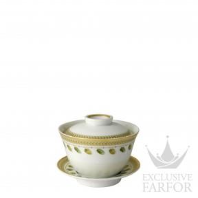 0657-1305 Bernardaud Фарфор|Золото Чаша с блюдцем и с крышкой 100мл