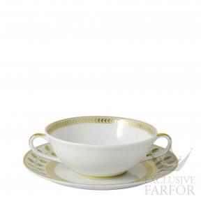 0657-77 Bernardaud Фарфор|Золото Чаша суповая с блюдцем 150мл