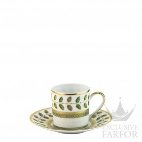 0657-79 Bernardaud Фарфор|Золото Чашка эспрессо с блюдцем 80мл