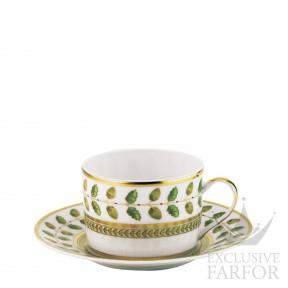 0657-91 Bernardaud Фарфор|Золото Чашка чайная с блюдцем 150мл