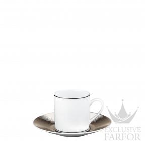 1359-79 Bernardaud Фарфор Платин Чашка эспрессо с блюдцем 80мл