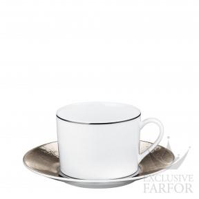 1359-91 Bernardaud Фарфор Платин Чашка чайная с блюдцем 150мл