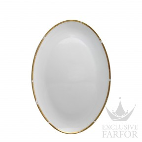 0446-107 Bernardaud Фарфор|Золото Блюдо овальное 38см