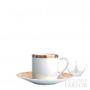0446-79 Bernardaud Фарфор|Золото Чашка эспрессо с блюдцем 80мл