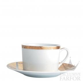 0446-91 Bernardaud Фарфор|Золото Чашка чайная с блюдцем 150мл