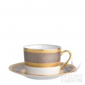 0503-91 Bernardaud Фарфор Золото Платин Чашка чайная с блюдцем