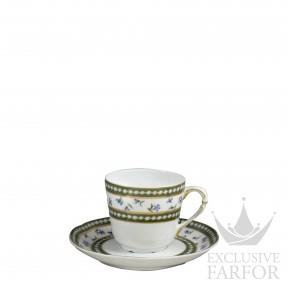 L004-79 Bernardaud Фарфор Золото Чашка эспрессо с блюдцем 100мл