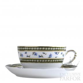 L004-89 Bernardaud Фарфор Золото Чашка чайная с блюдцем