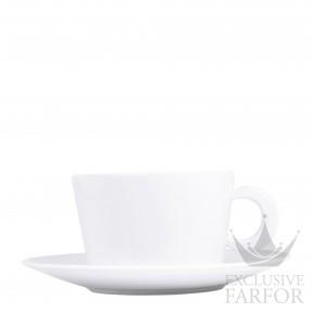 5602-83 Bernardaud Фарфор Чашка для завтрака с блюдцем 270мл