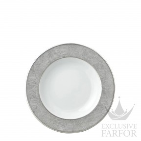 0459-23 Bernardaud Фарфор Платин Тарелка суповая 22,5см