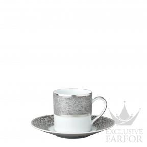 0459-79 Bernardaud Фарфор Платин Чашка эспрессо с блюдцем 80мл