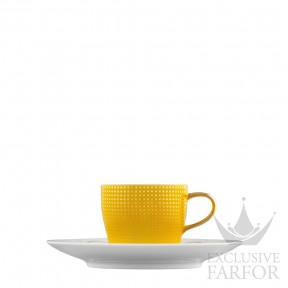 """TA2014770002 Fürstenberg Auréole Clair de Lune """"citron"""" Чашка эспрессо с блюдцем 0,07л"""