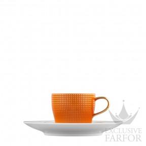"TA2014770003 Fürstenberg Auréole Clair de Lune ""orange"" Чашка эспрессо с блюдцем 0,07л"