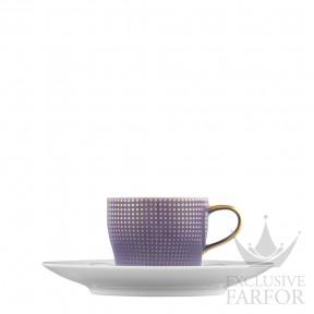 "TA2014770005 Fürstenberg Auréole Clair de Lune ""violett"" Чашка эспрессо с блюдцем 0,07л"