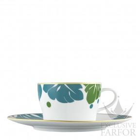 """TA20141570028 Fürstenberg Auréole Colorée """"absinth/lagune"""" Чашка чайная с блюдцем 0,20л"""