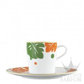 "TA2014570025 Fürstenberg Auréole Colorée ""orange/absinth"" Чашка кофейная с блюдцем 0,20л"