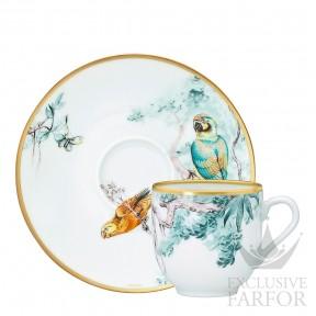 038017P Hermes Carnets d'Еquateur Чашка кофейная с блюдцем 100мл