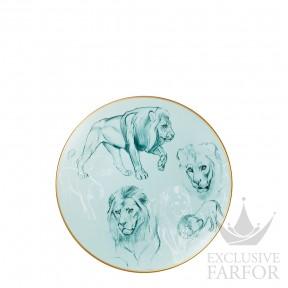 "038107P Hermes Carnets d'Еquateur Тарелка закусочная ""Lions"" 21см"