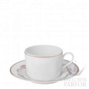 "004116P Hermes Chaine d'Ancre ""Platine"" Чашка чайная с блюдцем 160мл"