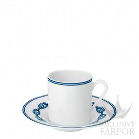 "004117P Hermes Chaine d'Ancre ""Platine"" Чашка кофейная с блюдцем 90мл"