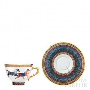 009884P Hermes Cheval d'Orient Чашка чайная с блюдцем № 4 230мл