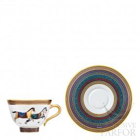 009885P Hermes Cheval d'Orient Чашка чайная с блюдцем № 5 230мл