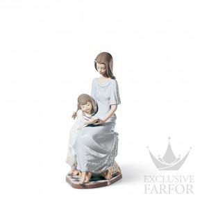 "01005457 Lladro Family Stories ""Motherhoods"" Статуэтка ""Сказка на ночь"" 26 x 14см"