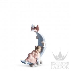 "01006583 Lladro Family Stories ""Birth"" Статуэтка ""Лунная колыбель"" 20 x 16см"