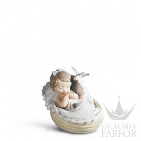 "01006710 Lladro Family Stories ""Birth"" Статуэтка ""Сладкие мечты"" 10 x 12см"