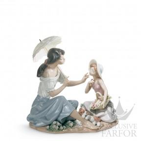 "01006910 Lladro Family Stories ""Motherhoods"" Статуэтка ""Такая милая, словно цветок"" 27 x 28см"
