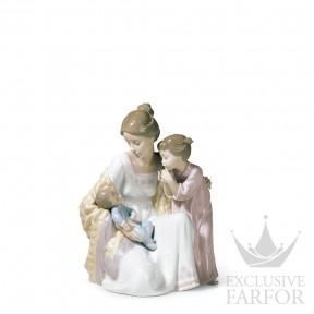 """01006939 Lladro Family Stories """"Motherhoods"""" Статуэтка """"Добро пожаловать в семью"""" 22 x 18см"""