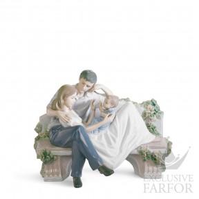 "01008056 Lladro Family Stories ""Family groups"" Статуэтка ""Бесценный момент"" 19 x 23см"