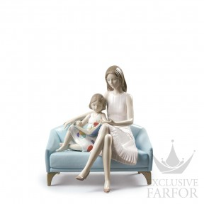 """01009225 Lladro Family Stories Статуэтка """"Наш момент чтения"""" 23 x 21см"""
