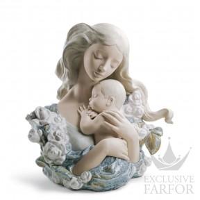 """01011953 Lladro Family Stories """"Motherhoods"""" Статуэтка """"Блаженная мать"""" 41 x 37см"""