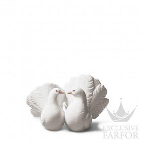 "01001169 Lladro Love stories ""Anniversaries"" Статуэтка ""Пара голубей"" 12 x 19см"