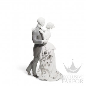 "01007193 Lladro Love stories Статуэтка ""Вальс влюблённых (Re-Deco)"" 30 x 21см"