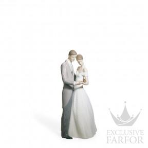 """01008107 Lladro Love stories """"Weddings"""" Статуэтка """"Вместе навсегда"""" 21 x 10см"""