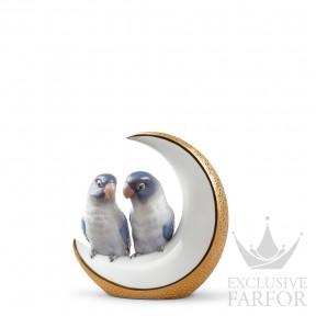"01008788 Lladro Love stories Статуэтка ""Улетим на луну (золотой)"" 16 x 15см"