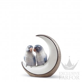 "01008789 Lladro Love stories Статуэтка ""Улетим на луну (серебряный)"" 16 x 15см"