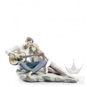 """01009198 Lladro Love stories """"Romances"""" Статуэтка """"Наша песня"""" 29 x 54см"""