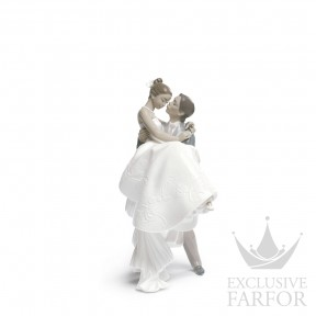 "01009210 Lladro Love stories ""Weddings"" Статуэтка ""Самый счастливый день (синий)"" 27 x 17см"