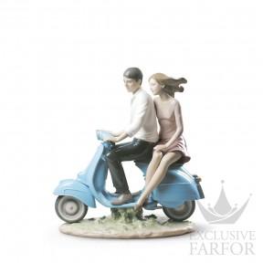 """01009231 Lladro Love stories """"Romances"""" Статуэтка """"Поездка с тобой"""" 27 x 27см"""