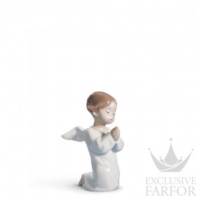 "01004538 Lladro Spirituality ""Angels"" Статуэтка ""Ангел в молитве"" 13 x 8см"