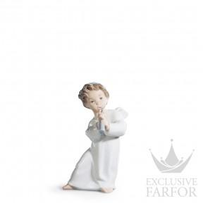 "01004540 Lladro Spirituality ""Angels"" Статуэтка ""Ангел с флейтой"" 16 x 8см"