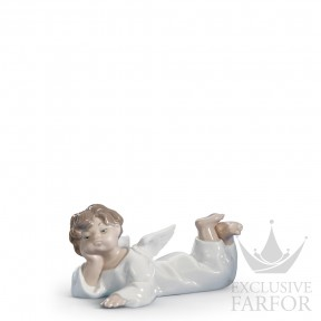 "01004541 Lladro Spirituality ""Angels"" Статуэтка ""Лежащий ангел"" 6 x 14см"