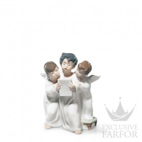 "01004542 Lladro Spirituality ""Angels"" Статуэтка ""Группа ангелов"" 18 x 12см"
