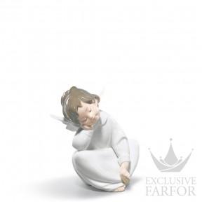 "01004961 Lladro Spirituality ""Angels"" Статуэтка ""Ангел мечтает"" 15 x 12см"