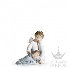 "01006961 Lladro Spirituality ""Angels"" Статуэтка ""Мой ангел-хранитель (синий)"" 14 x 14см"