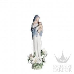 "01008322 Lladro Spirituality ""Christianity"" Статуэтка ""Мадонна цветов"" 33 x 14см"