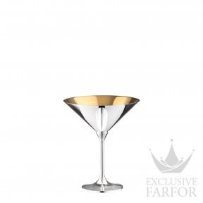 "06231597 Robbe & Berking Bar-Kollektion ""90г. посеребрение/позолота"" Бокал для мартини ""Dante"" 12,8см"